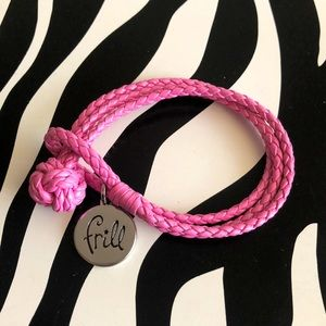 4 for $20 Vera Bradley Pink Frill Leather Bracelet